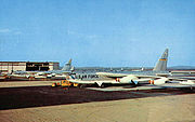 Westover AFB Postcard - B-52 Stratofortress on Ramp