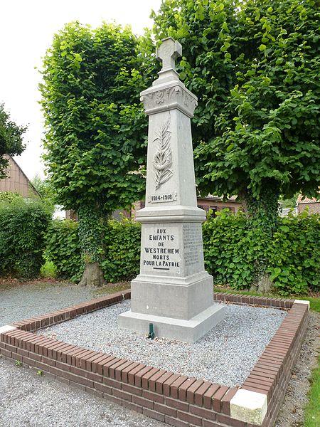 Westrehem (Pas-de-Calais, Fr) monument aux morts