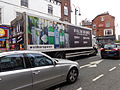 Wetherspoon's dray lorry, New Briggate, Leeds (12th April 2014).JPG