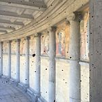 Wiki Loves Art --- Musée Royal de l'Armée et de l'Histoire Militaire ---Fresque vue de la montée vers la vue des Arcades 09.jpg