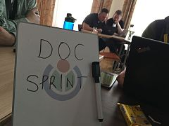 Wikimedia Hackathon 2017 - documentation sprint board.jpg