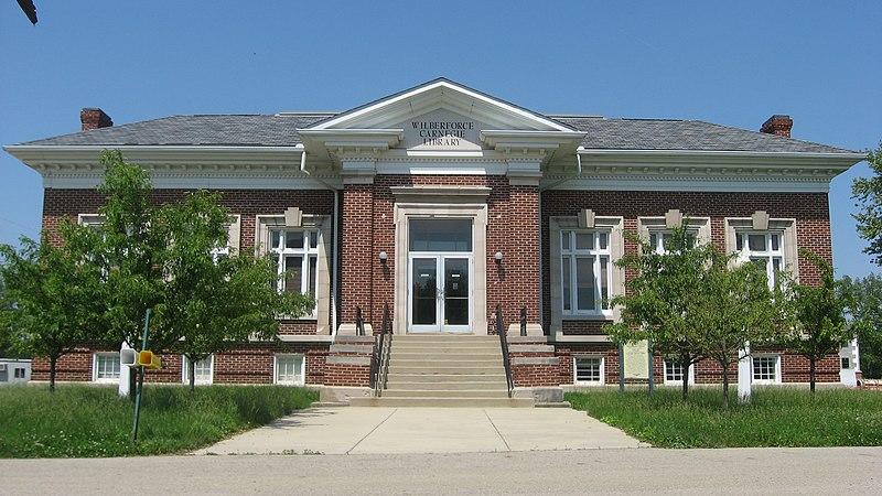 File:Wilberforce Carnegie Library front.jpg
