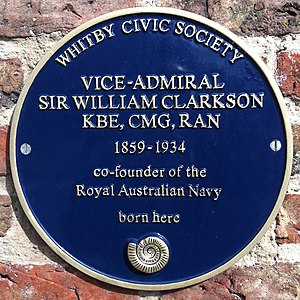 William Clarkson - Blue plaque at Clarkson's birth place.