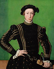 Kaiser Maximilian II. (1527-1576), Bildnis in halber Figur als etwa Siebzehnjähriger
