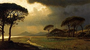 Roman Campagna - William Stanley Haseltine - Morning Light, Roman Campagna, 1871