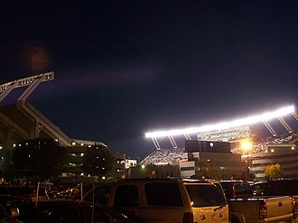 Williams-Brice Stadium - Williams-Brice Stadium at night.