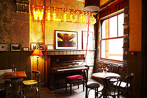 Wilton's Music Hall - The Mahogany Bar at Wilton's Music Hall, 2010.