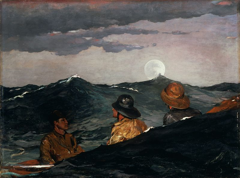 Painting By Winslow Homer Kissing The Moon