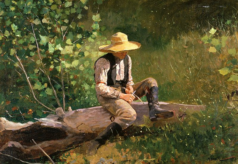 File:Winslow Homer - The whittling boy.jpg