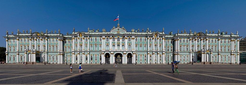 El Palacio de Invierno, visto desde la Plaza del Palacio.