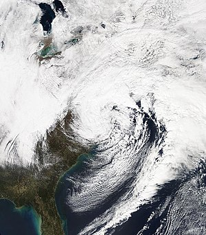 March 2013 nor'easter - Image: Winter Storm Saturn (2013), as a nor'easter, on March 7