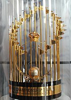 Picture of the Commissioner's Trophy, the trophy for the winner of the World Series