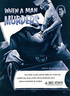 When a Man Murders short story by Rex Stout