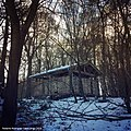 Woodland Classroom in Rosewell, Rear View in Winter, Scotland.jpg