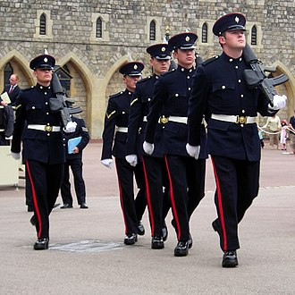 Worcestershire and Sherwood Foresters Regiment - Soldiers from the Worcestershire and Sherwood Foresters on Guard Duty at Windsor Castle