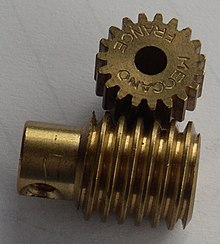 Photo of a worm gear