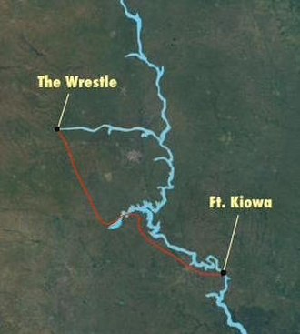 Hugh Glass - The 200-mile route of the 1823 odyssey by Glass