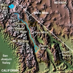 Owens Valley Map Owens Valley   Wikipedia Owens Valley Map
