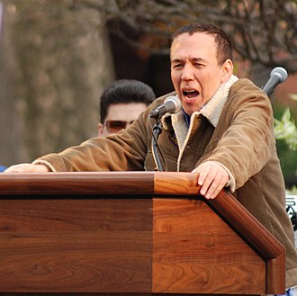 Gilbert Gottfried - Gottfried at the Writers Guild of America East Solidarity Rally in Washington Square on November 27, 2007