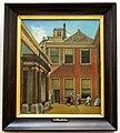 Wybrand Hendriks (1744-1831), Binnenplaats van Teylers Fundatiehuis, Haarlem, 1800 , Olieverf op paneel.JPG
