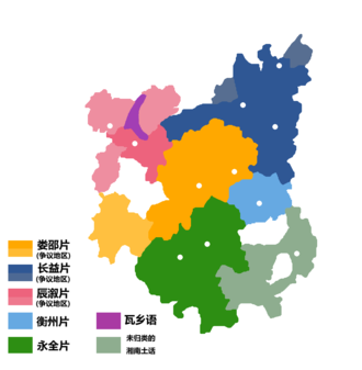 Xiang Chinese - Dialects of Xiang Chinese