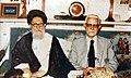 Yadollah Sahabi (right) and Mohammad Kazem Shariatmadari (left), Qom - 1979.jpg