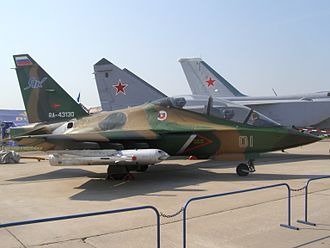 Post-PFI Soviet/Russian aircraft projects - Yakovlev proposed the Yak-133, a modified version of this Yak-130.
