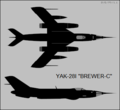 Yakovlev Yak-28I two-view silhouette.png