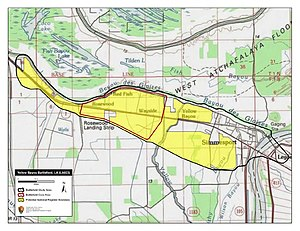 Battle of Yellow Bayou - Map of Yellow Bayou Battlefield core and study areas by the American Battlefield Protection Program.