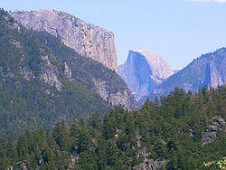 O Parque Nacional de Yosemite.