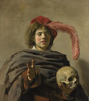 Young Man with a Skull - Young Man with a Skull, c.1626 Oil on canvas, 92 x 81 cm