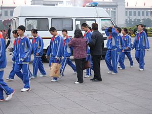Young Pioneers of China - A group of Young Pioneers in Tiananmen Square in October 2007