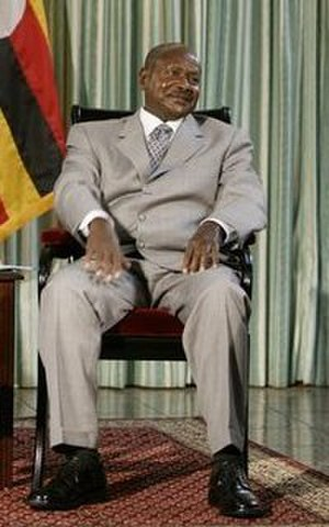 Politics of Uganda - Yoweri Museveni, President of Uganda.