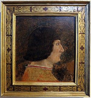 Zanetto Bugatto - Portrait of Galeazzo Maria Sforza (attr.), 1474-76, Castello Sforzesco, Milan