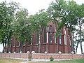 Zespół kościoła (1912-1913) kościół p.w. Przemienienia Pańskiego (tył) - Malowa Góra gmina Zalesie powiat bialski woj. lubelskie ArPiCh A-194.JPG