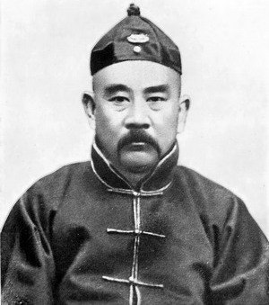 Manchu Restoration - Royalist warlord Zhang Xun, above, tried to restore the last Qing emperor Puyi, right, to the throne in Beijing.