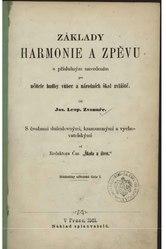 Josef Leopold Zvonař: Základy harmonie a zpěvu