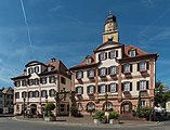 Zwillingshaus and Hof-Apotheke, Bad Mergentheim, South view 20150726 1.jpg