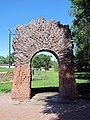 """27th Street Hearth"", Elaine Hammer Bridge plaza, Lincoln, Nebraska, USA.jpg"