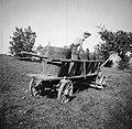 """""""Bendimač"""" tlači grozdje v vrni na vozu, Slap 1958.jpg"""