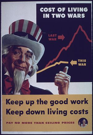 """""""Cost of Living in Two Wars - Keep Up the..."""