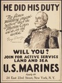 """He did his duty. ""No finer military organization than the Marine Corps exists in the world."" George Dewey. Admiral of t - NARA - 512468.tif"