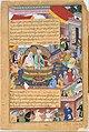 """Tumanba Khan, His Wife, and His Nine Sons"", Folio from a Chingiznama (Book of Genghis Khan) MET DT4805.jpg"