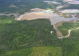 Ahtium - The holding ponds in June 2013.