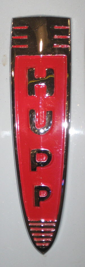 Hupmobile - Hupp grille badge, on a 1941 Skylark