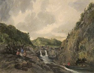 'Landing in Byron Bay, Hawaii Island' by René Gillotin, Honolulu Museum of Art.JPG
