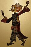 'The God of Thunder', 19th century, shadow puppet from Sichuan Province, Lin Liu-Hsin Museum.JPG