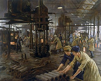 Stanhope Forbes - The Munitions Girls, 1918
