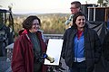 (L-r) Anne Spillane, Brandi Stewart. Casey Overturf in background. Starry Hill Observatory for field trip. (55a08e16e1984587b93054735d17bdc9).jpg