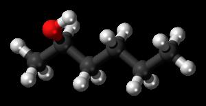2-Hexanol - Image: (R) Hexan 2 ol 3D ball